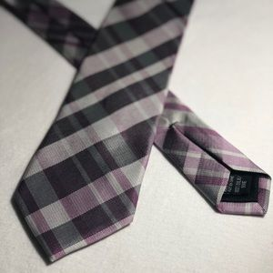 Calvin Klein Purple Plaid Necktie